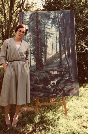 """Ivan Schischkin """"Patak az erdőben"""" festmény reprodukció"""